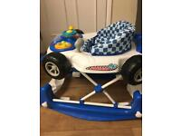 Barely used, 3 weeks old - MyChild Car 2 In 1 Baby Walker - Blue