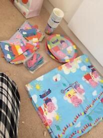 Peppa pig birthday set