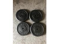 4X 10KG METAL WEIGHTS