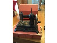 Muller no 10 rare antique hand cranked toy/child's German made sewing machine