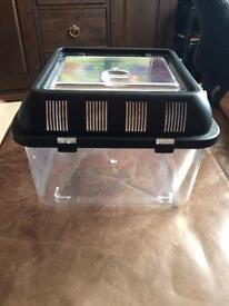Small plastic pet tank