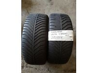 2X TYRES 215 55 16 GOODYEAR 4SEASONS