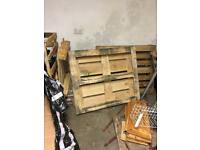 3 large pallets and 1 small pallet