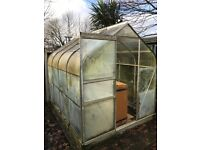 Greenhouse 6ft x 8ft - glass and aluminium