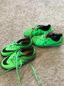 Nike studs and Astro boots