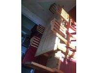 Solid oak dining table with 6 chairs OFFERS ACCEPTED