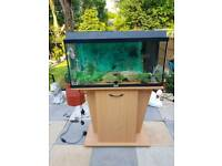 120litre fish tank aquarium with cabinet, heater, filter and decoration
