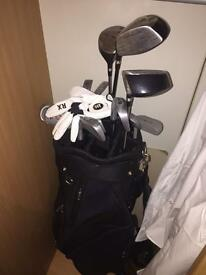 Golf Clubs + Bag.