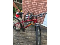 Red Crank unisex bike. This for teen from approx 10-15 years.