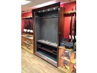 Browning gun display cabinet.