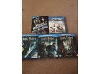 Harry Potter and Fast and Furious Blu Rays