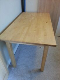 Birch Table - Very solid and in good condition. Delivery negotiable.