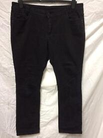 2 pairs of black jeans size 18
