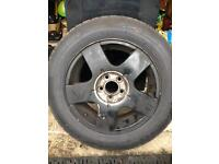 Volkswagen Audi vag group alloy with brand new tyre.