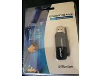 Billionton Bluetooth USB Adapter, Brand new