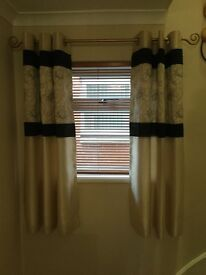 """Gorgeous ring top curtains 46""""x54"""" and pole"""