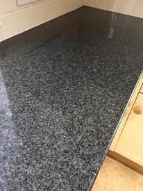 Black GRANITE KITCHEN WORKTOPS x 3 bargain only available until 23rd January