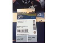 British Open Sunday Ticket for Carnoustie 22nd July 2018