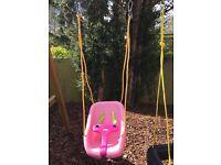 Little tikes pink toddler swing seat