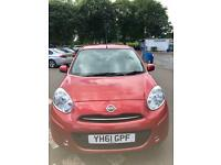 2011(61)Nissan Micra automatic. 1.2 petrol. 5dr. Full year mot