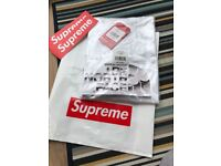 Supreme®/The North Face® Metallic Logo T-Shirt - White - XL