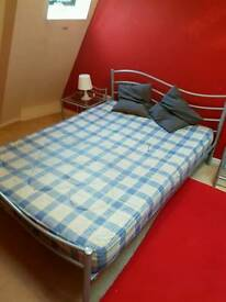 Double bed and matching tables