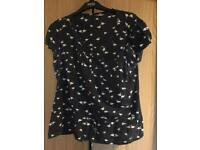 Flamingo print blouse size 16