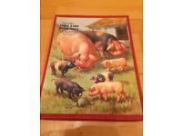Wooden pigs jigsaw