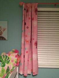 Girls curtains and light shade