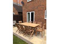 Bramblecrest Teak solid rectangle 8 seater garden furniture set