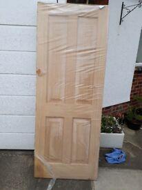 """Internal Oak Door. White Oak internal solid door size 78"""" x 30""""."""