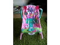 Fisher price pink infant to toddler bouncer rocker