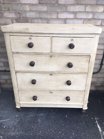 CHEST OF DRAWERS PAINTED FARMHOUSE COUNTRY EDWARDIAN MAHOGANY