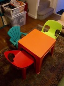 Habitat kids table and chairs
