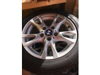 BMW 1 series alloys with Pirelli winter tyres. Set of 4, 16""
