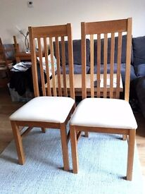 2 x Next oak dining Chairs