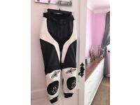 Ladies leather motorcycle trousers size 8