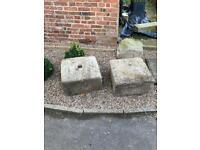 Architectural salvage solid stone blocks