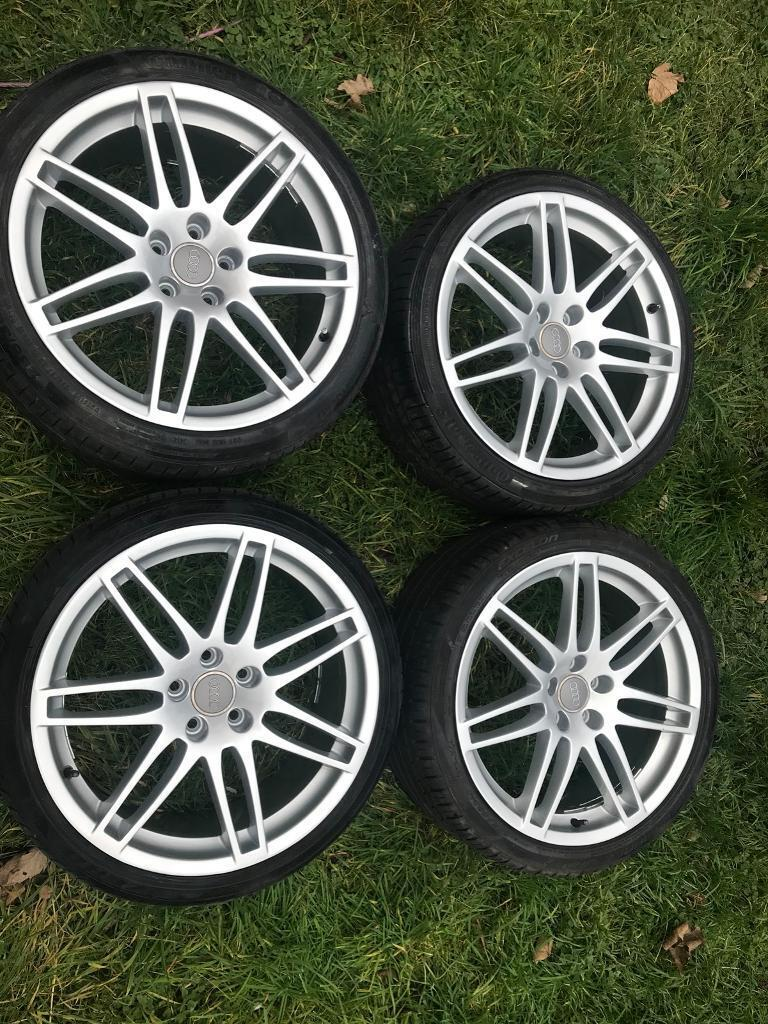 """Audi 19"""" alloy wheels with 255/35/19 tyres. 5x112"""