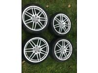 "Audi 19"" alloy wheels with 255/35/19 tyres. 5x112"