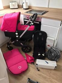 Pristine bugaboo cameleon 3 hoodless for Unisex/boy or with pink