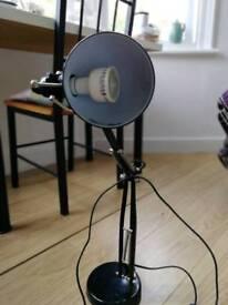 Black office/study lamp