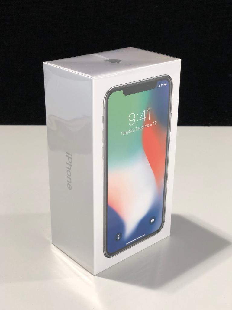 iPhone X 256GB Silver Brand New Unlocked