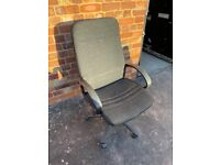 Black office chair with hand rest