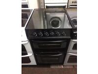 Black Parkinson Cowan 50cm gas cooker grill & double oven good condition with guarantee