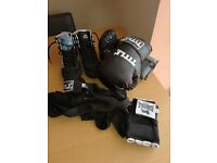 Boxing gloves, boots