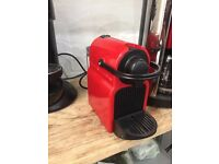 KRUPS Nespresso Coffee machine red hardly used - Office or home - Waterloo, London