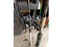 3 X Rods And Reels