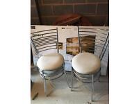 4 x metal frame chairs