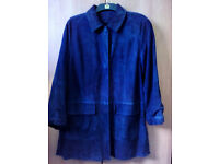 Ladies Italian Suede 3/4 length coat/jacket